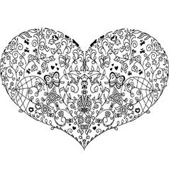 Heart mandala doodle vector
