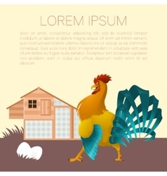 Henhouse banner with rooster vector image