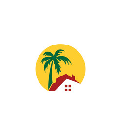Home resort logo vector