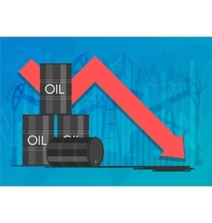 Industry crisis concept Drop in crude oil prices vector image