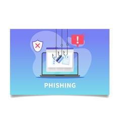 Internet phishing stealing credit card data vector