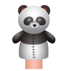 Isolated panda puppet vector