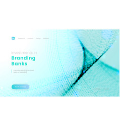 landing page template with abstract blue particles vector image