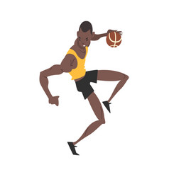 Male african american basketball player vector