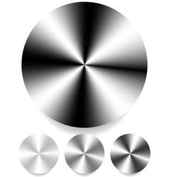 Metallic monochrome circle plates sheets 4 level vector