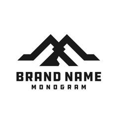 monogram logo design letter ma vector image