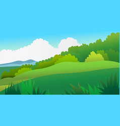 Nature landscape scene with sky background vector