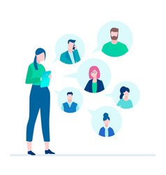 office chat - flat design style vector image