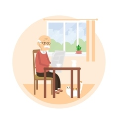Old Man Reading a Newspaper vector