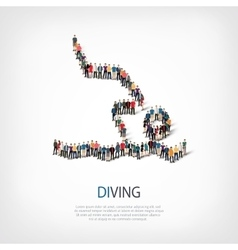 people sports diving vector image