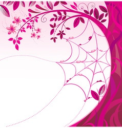 pink tree with a flowers vector image