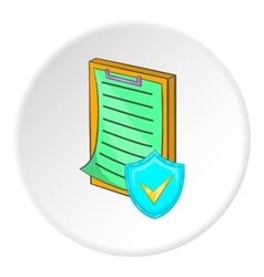 Plan icon cartoon style vector