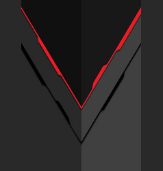 red line arrow on grey metal design modern vector image