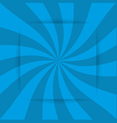 retro blue ray background in vintage style and vector image