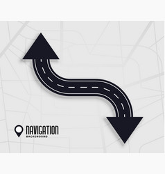 Road navigation concept background with arrow sign vector