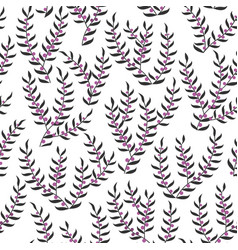 Seamless pattern with stylized heather vector