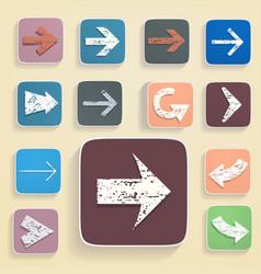 set arrows in vintage style vector image