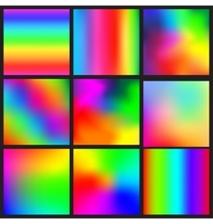 Set of rainbow mesh backgrounds vector image