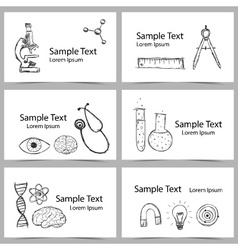 Set of Science Cards vector image