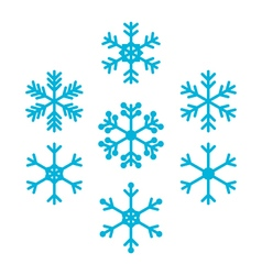 Snowflakes for winter and christmas design vector