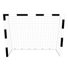 Soccer gate vector image