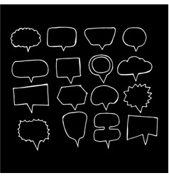speech bubble hand drawing icon vector image