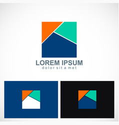 square colored logo vector image