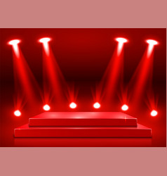 Stage podium with lighting stage podium scene vector