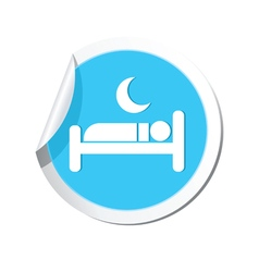 Sticker with hotel icon vector