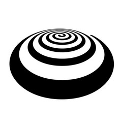 thick spiral shape in perspective view vector image