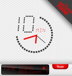 Time Icon 10 Minutes Symbol Design Elements vector image