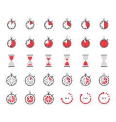 Timer and sand clock icon for use as cooking vector