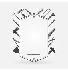 Tool shop concept label vector image