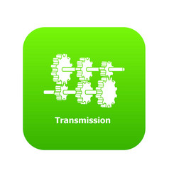 transmission icon green vector image