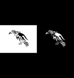 tribal raven vector image