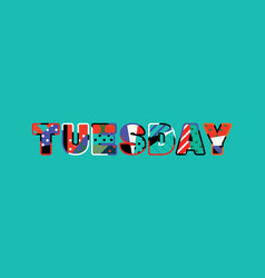 tuesday concept word art vector image