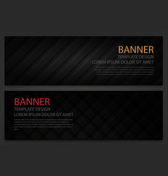 two abstract black banners business design vector image