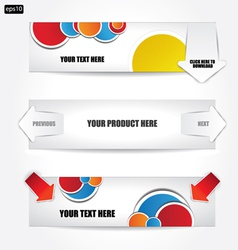 web banners vector image