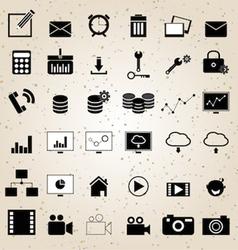 web design icons set vector image
