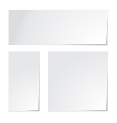 White paper set vector