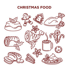 winter holidays celebration christmas food vector image