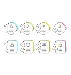 world water milk jug and tea cup icons set water vector image