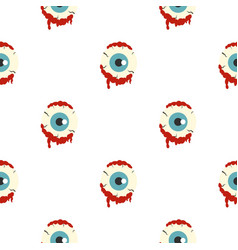 Zombie eyeball pattern seamless vector