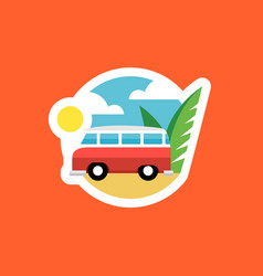 beach van icon vector image vector image