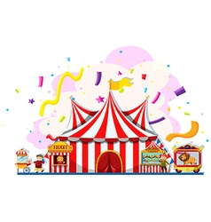 People working at the carnival vector image