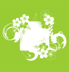 a frame with a floral decor and a space for text vector image vector image