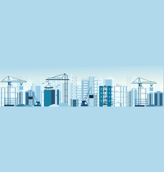 buildings constructions vector image vector image