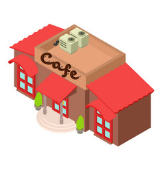 cafe icon isometric style vector image