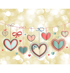 valentines postcard vector image