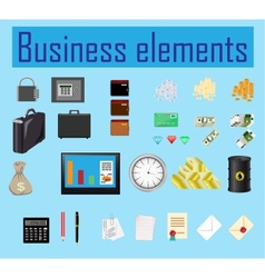 business elements vector image